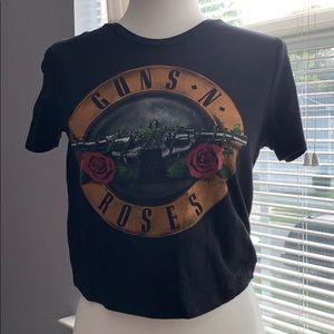 guns and roses crop top